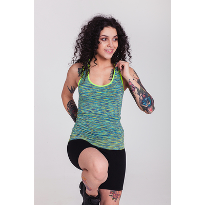 Спортивная майка ONLITOP Fitness time, размер 42-44, цвет зелёный
