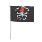 """Флаг пирата настольный """"Настоящий пират"""", 14 х 21 см"""