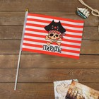 "Флаг пирата ""Пираты"", 30 х 45 см + флагшток"