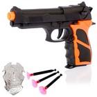 "Пистолет ""Супер Команда"", со значком, стреляет присосками"