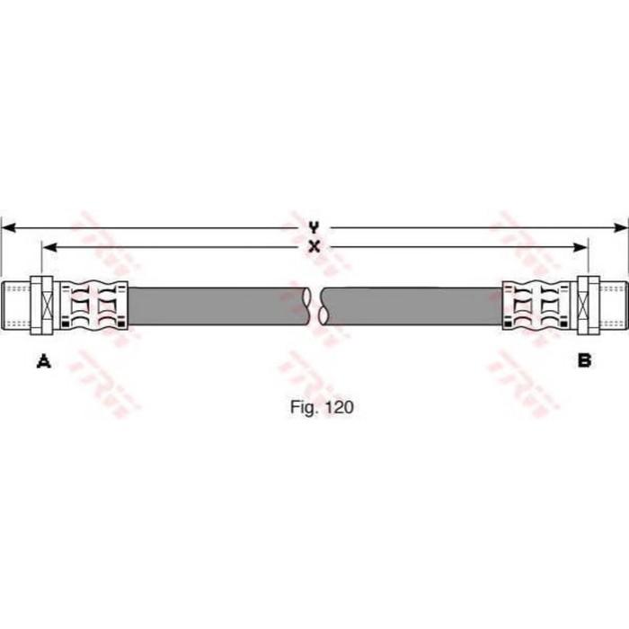 Шланг тормозной TRW PHA342