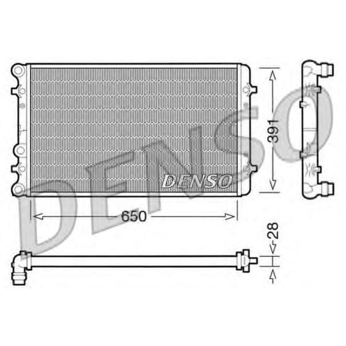 Радиатор охлаждения двигателя Denso DRM02007