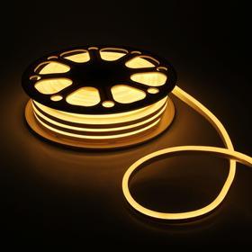 Flexible neon light 8 x 16 mm, 25 metres, LED-120-a SMD2835, 220 V, WARM WHITE