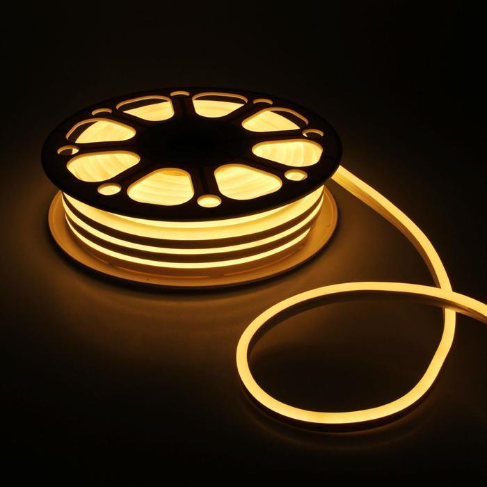 Гибкий неон, 8х16 мм, 25 м, LED/м-120-SMD2835-220V, Т/БЕЛЫЙ