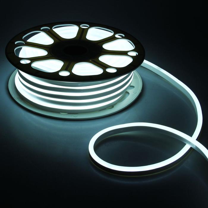 Гибкий неон, 8х16 мм, 25 м, LED/м-120-SMD2835-220V, БЕЛЫЙ