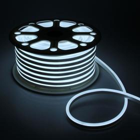 Гибкий неон, 8х16 мм, 50 м, LED/м-120-SMD2835-220V, БЕЛЫЙ