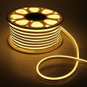Flexible neon light 8 x 16 mm, 50 meters, LED-120-a SMD2835, 220 V, WARM WHITE