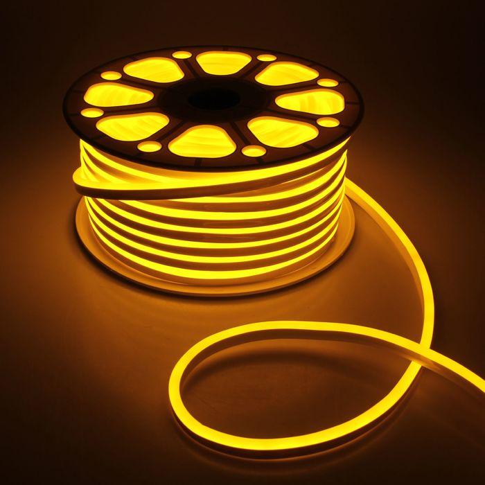 Гибкий неон 8 х 16 мм, 50 метров, LED-120-SMD2835, 220 V, ЖЕЛТЫЙ