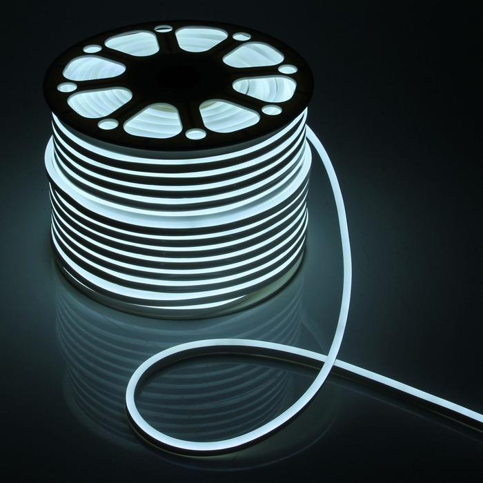 Гибкий неон 8 х 16 мм, 100 метров, LED-120-SMD2835, 220 V, БЕЛЫЙ