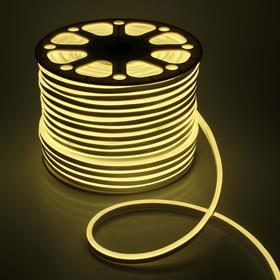 Flexible neon light 8 x 16 mm, 100 meters, LED-120-a SMD2835, 220 V, WARM WHITE