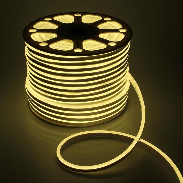 Гибкий неон, 8х16 мм, 100 м, LED/м-120-SMD2835-220V, Т/БЕЛЫЙ