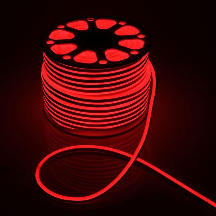 Гибкий неон 8 х 16 мм, 100 метров, LED-120-SMD2835, 220 V, КРАСНЫЙ