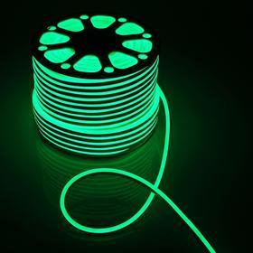 Гибкий неон, 8х16 мм, 100 м, LED/м-120-SMD2835-220V, ЗЕЛЕНЫЙ