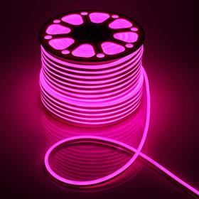 Гибкий неон, 8х16 мм, 100 м, LED/м-120-SMD2835-220V, РОЗОВЫЙ