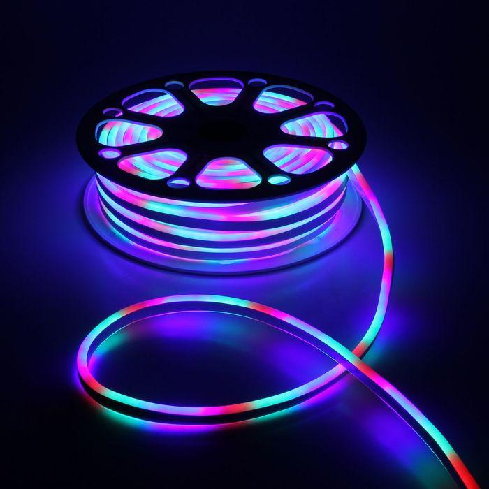Гибкий неон двухсторонний 8 х 18 мм, 25 метров, LED-120-SMD2835, 220 V, МУЛЬТИ