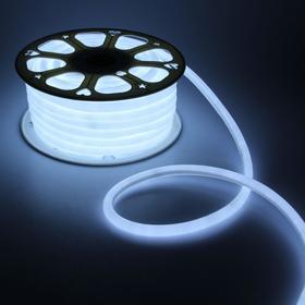 Гибкий неон круглый, D=16 мм, 25 м, LED/м-120-SMD2835-220V, БЕЛЫЙ