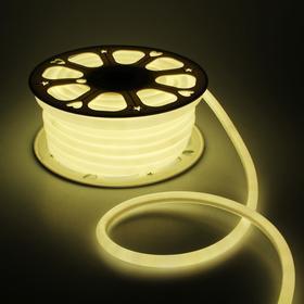 Гибкий неон круглый, D=16 мм, 25 м, LED/м-120-SMD2835-220V, Т/БЕЛЫЙ