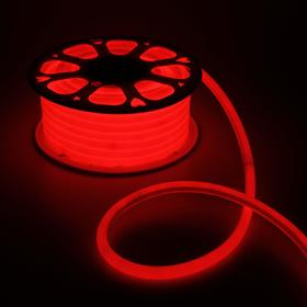 Flexible neon round D of 16 mm, 25 meters, LED-120-a SMD2835, 220V, RED