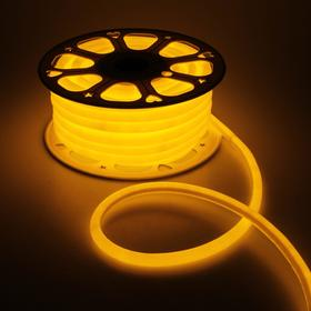 Гибкий неон круглый, D=16 мм, 25 м, LED/м-120-SMD2835-220V, ЖЕЛТЫЙ