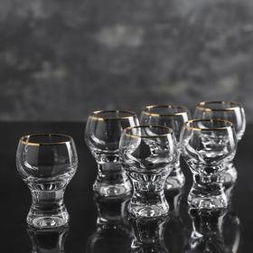 Набор рюмок Bohemia Crystal «Джина», 60 мл, 6 шт