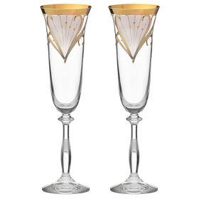 Набор фужеров для шампанского «Анжела. Свадебный», 190 мл, 2 шт.
