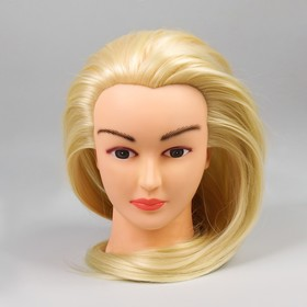 Голова тренировочная, искусственный волос, 80см