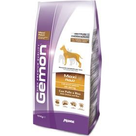 Сухой корм Gemon Dog Maxi для взрослых собак крупных пород, курица/рис, 15 кг.