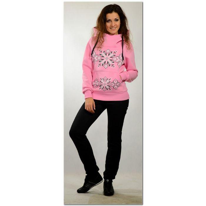 Комплект женский с начесом Снежинка-2 розовый, р-р 42