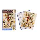 """Applique a - puzzle volume label """"Irises"""""""