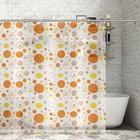 """Штора для ванной 180х180 см """"Оранжевое настроение"""""""