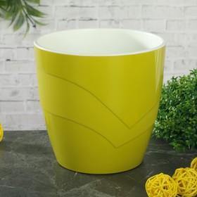 Кашпо со вставкой «Грация», 1,2 л, цвет фисташковый