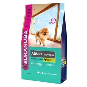 Сухой корм EUK Dog для взрослых собак миниатюрных пород, 3,5 кг.