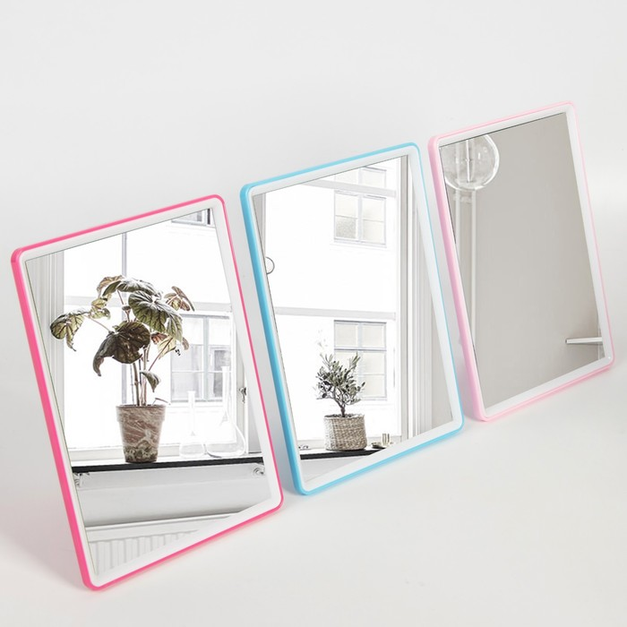Зеркало складное-подвесное «You», зеркальная поверхность 13,5 × 18,5 см, цвет МИКС