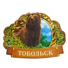Магнит многослойный с тиснением золотом «Тобольск»
