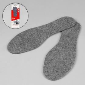 Стельки для обуви, 35-36 р-р, пара, цвет серый Ош