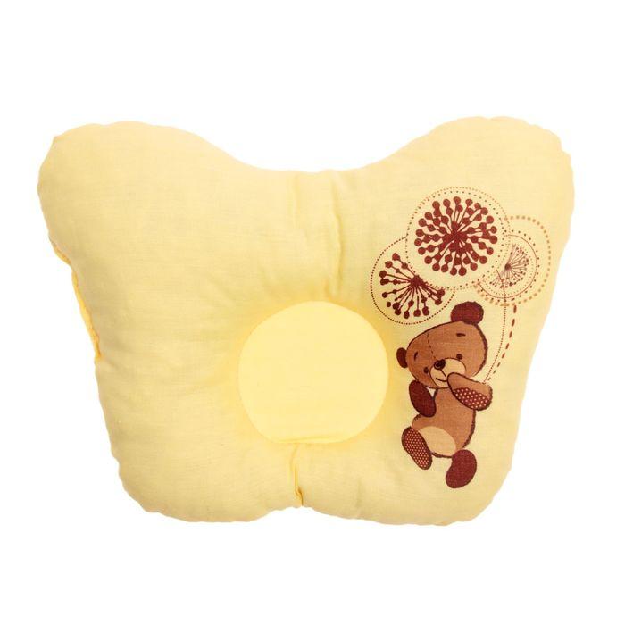 Подушка анатомическая «Шоколадный мишка», 20х25 см