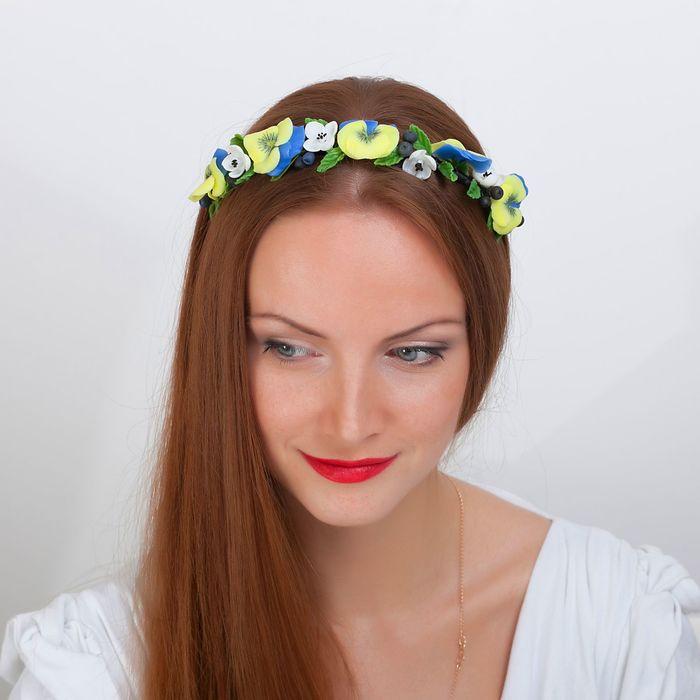 """Ободок для волос ручной работы """"Цветочный бум"""" - фото 416909472"""
