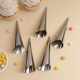 Набор форм для круассанов и трубочек, 6 шт, 11×3 см