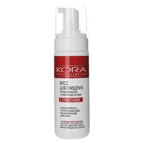 Мусс Kora для очищения  проблемной и жирной кожи лица с пребиотиком, 160 мл