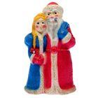 "Копилка ""Дед Мороз и Снегурочка"" глянец, красно-синяя"