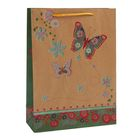 """Пакет крафт """"Бабочки"""", 24 х 9 х 33 см"""