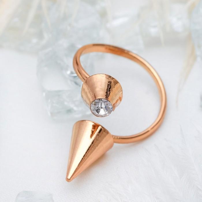 Кольцо на фалангу ''Шип'', цвет белый в золоте, безразмерное   1503353