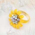 """Кольцо """"Цветок"""" герберы, цвет желто-радужный, безразмерное"""