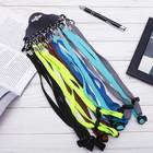 Шнурок для очков, широкий текстиль, затягивается, цвет МИКС