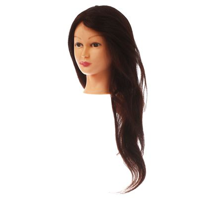 Голова тренировочная, натуральный волос 70%, 55см