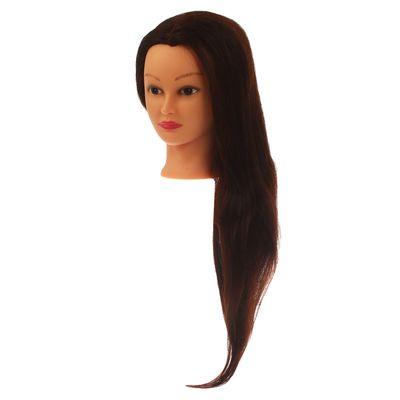 Голова тренировочная, натуральный волос 80%, 60см