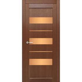 Дверное полотно остекленное Мальта Каштан бронза лабиринт 2000х600