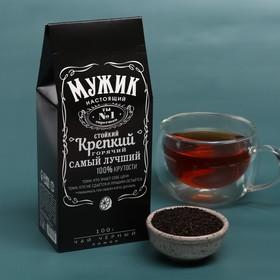 Чай чёрный «Настоящему мужику»: с ароматом лимона и мяты, 100 г