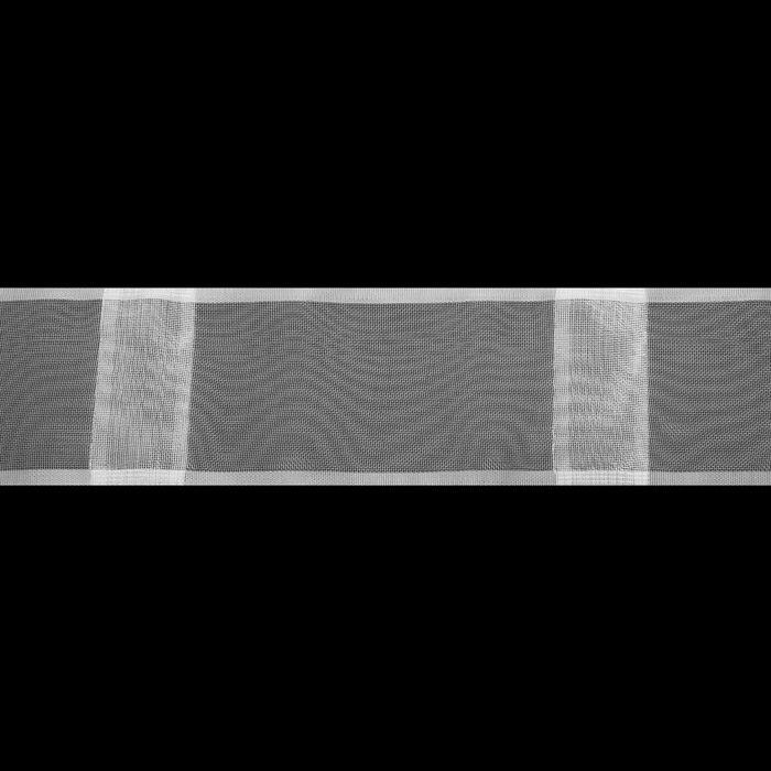 Лента шторная широкая, ширина 100мм, 3м, цвет белый