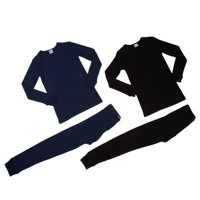 Комплект для мальчика (джемпер, кальсоны), рост 140 см, цвет чёрный